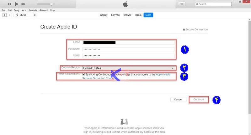 creating apple id