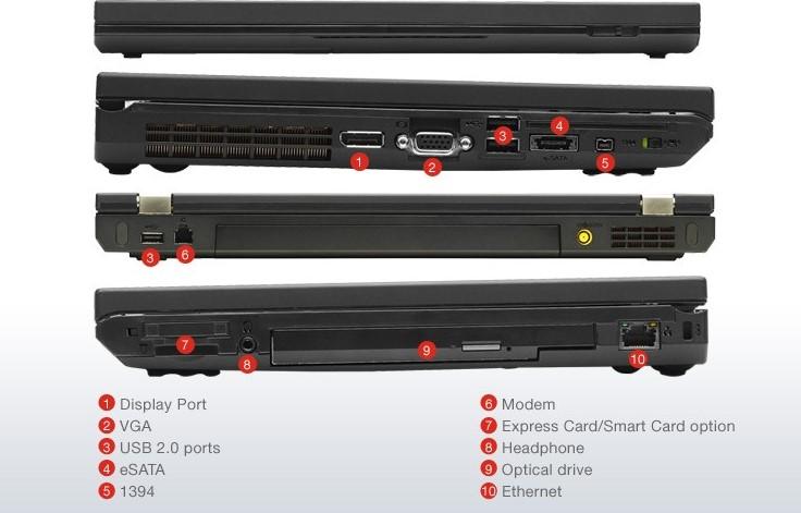 پورت های Lenovo ThinkPad T430s