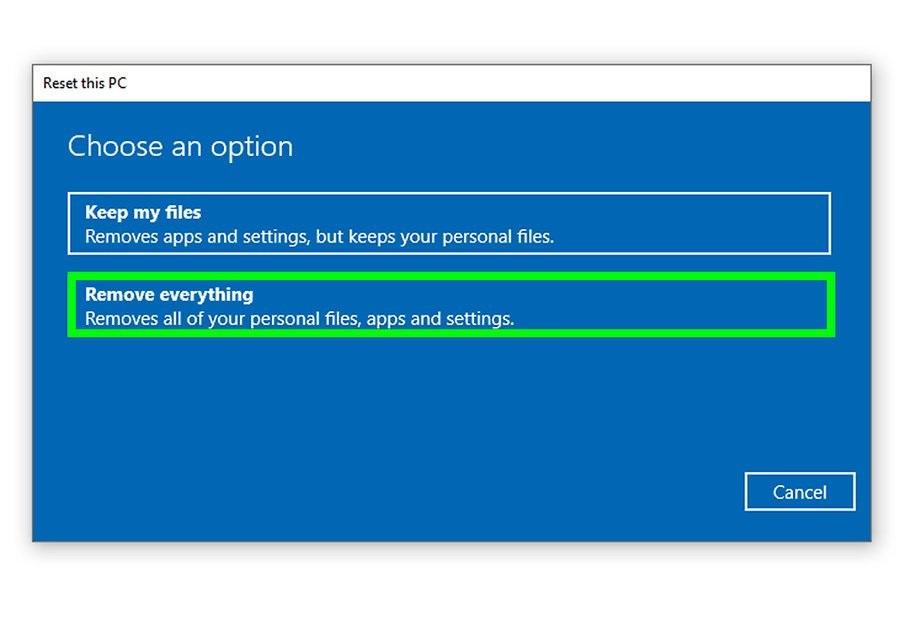 برگرداندن تنظیمات کارخانه لپ تاپ