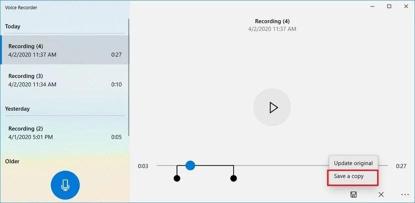 sound recording windows 6